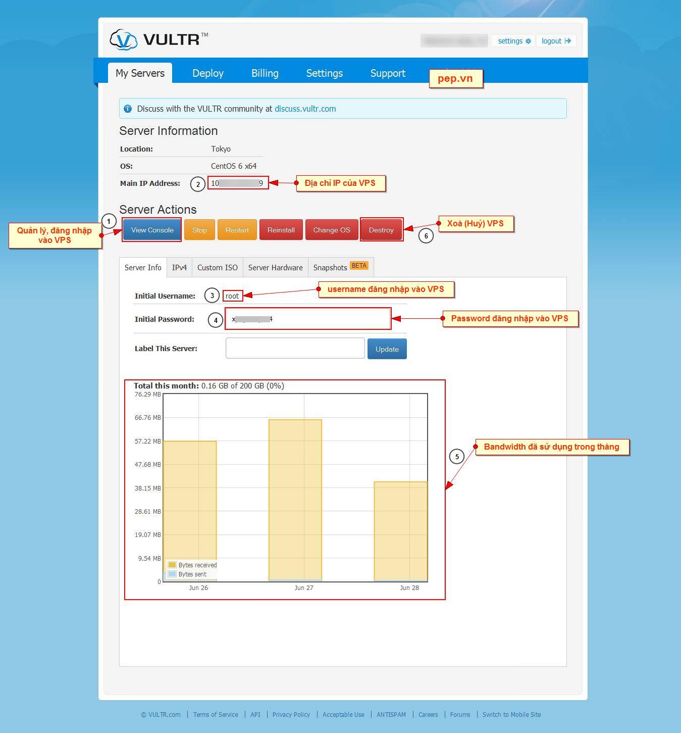 Cách đăng ký và tạo VPS giá rẻ tại VULTR - blog-xtraffic pep vn