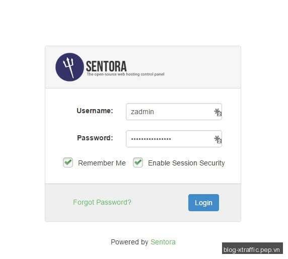 Hướng dẫn cách cài đặt Sentora web hosting control panel - Control Panel Sentora Web Hosting Control Panel - Webmasters Tools