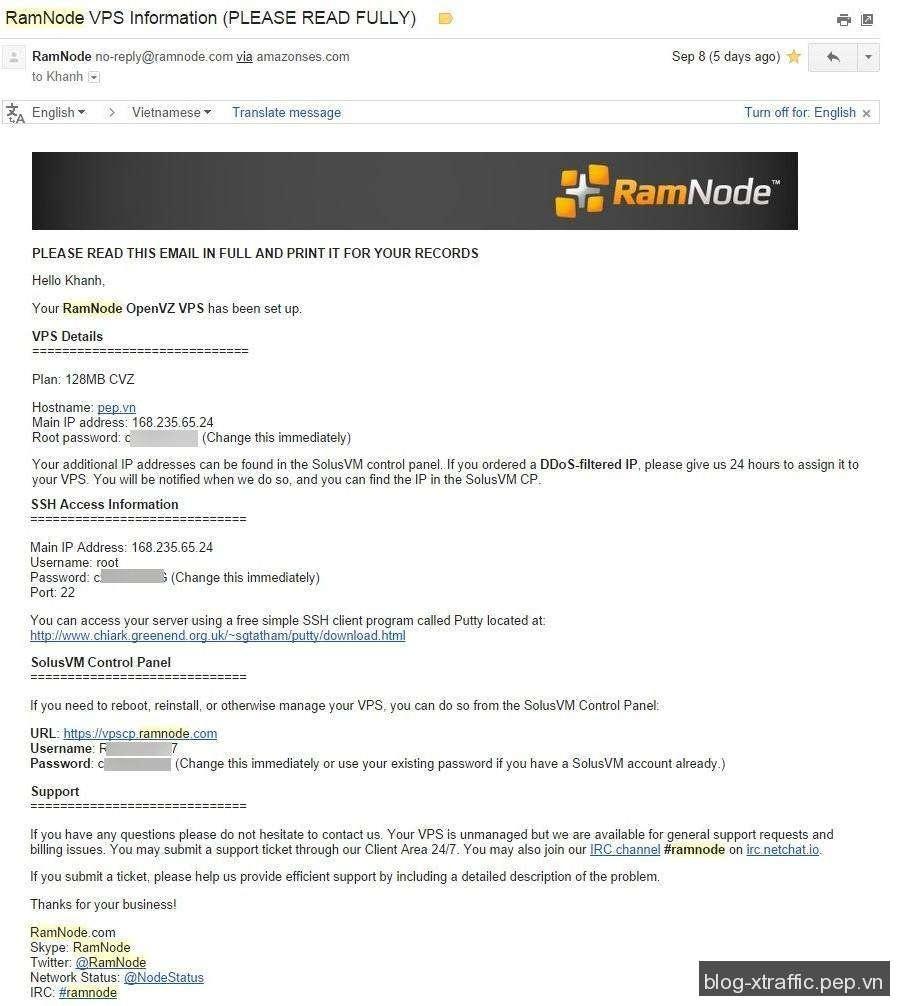 Cách đăng ký và tạo VPS giá rẻ nhất 1USD/tháng tại RamNode - RamNode vps VPS giá rẻ - Hosting
