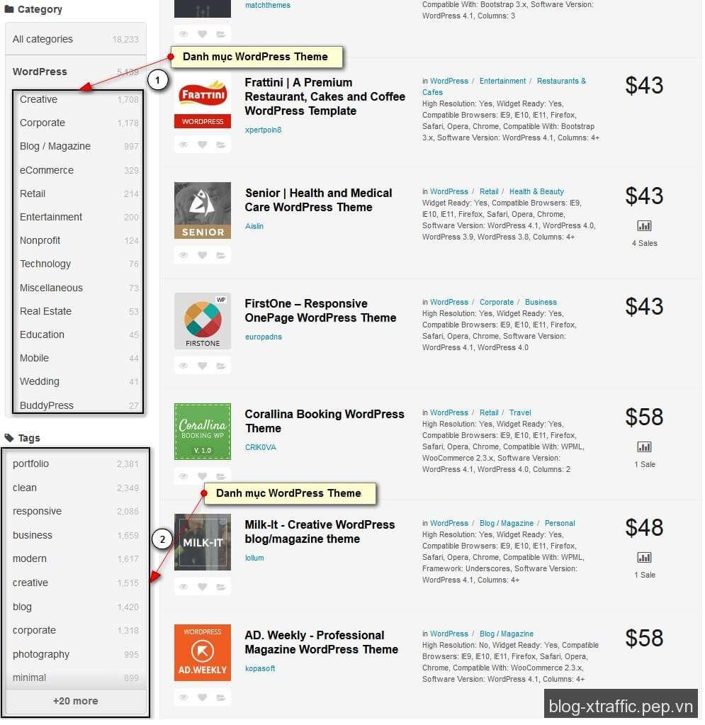 Cách chọn và cài đặt WordPress Theme tốt nhất - Template Theme WordPress WordPress Theme - Wordpress