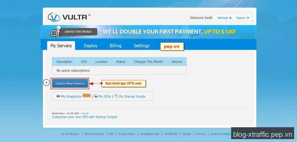 Cách đăng ký và tạo VPS giá rẻ tại VULTR - vps VPS giá rẻ VPS giá rẻ VULTR Vultr - Hosting