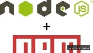 Node.js + NPM logo