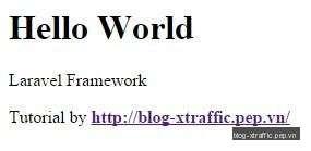 Tạo và benchmark Laravel Hello World - Composer Hello World Laravel Laravel installer PHP PHP Framework - Phát triển website
