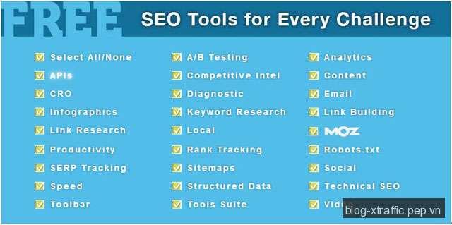 Những công cụ SEO miễn phí & hữu ích - công cụ SEO - Digital Marketing