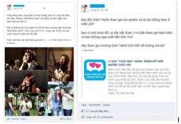 Tin PR được đăng trên Facebook của các Influencer